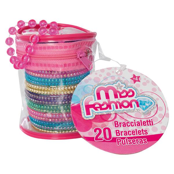 Un sac comprenant 20 bracelets brillants fashion de 10 couleurs différentes. Facile à ranger et à transporter avec leur sac de rangement.