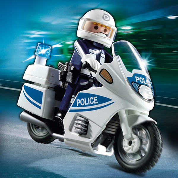 5185 motard de police avec lumiere clignotante playmobil. Black Bedroom Furniture Sets. Home Design Ideas