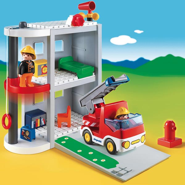 6777 caserne de pompiers de playmobil. Black Bedroom Furniture Sets. Home Design Ideas
