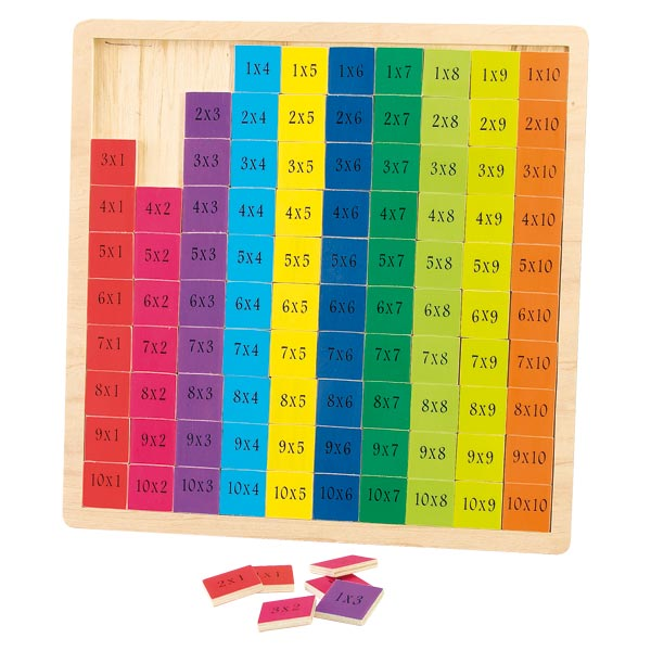 Table de multiplication wood n play king jouet premiers for Methode apprentissage table de multiplication