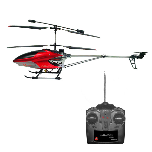 H licopt re 74 cm radiocommand 3 voies superstar king jouet h licopt res - Helicoptere rouge et jaune ...