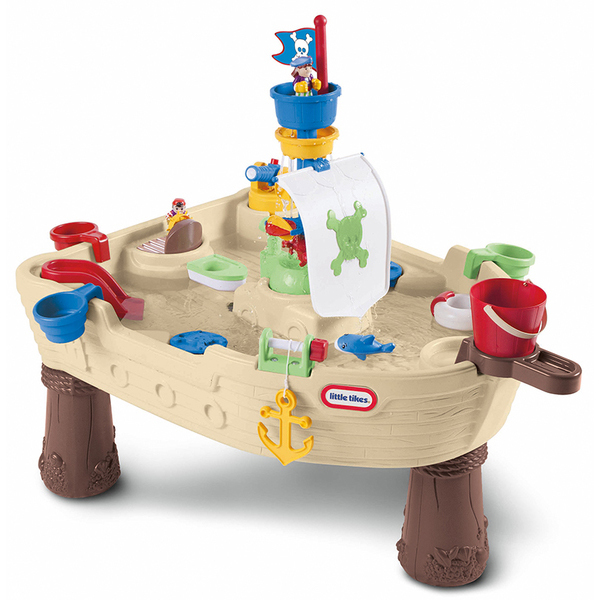 Table de jeux d 39 eau le bateau pirate little tikes king for Table jeu exterieur