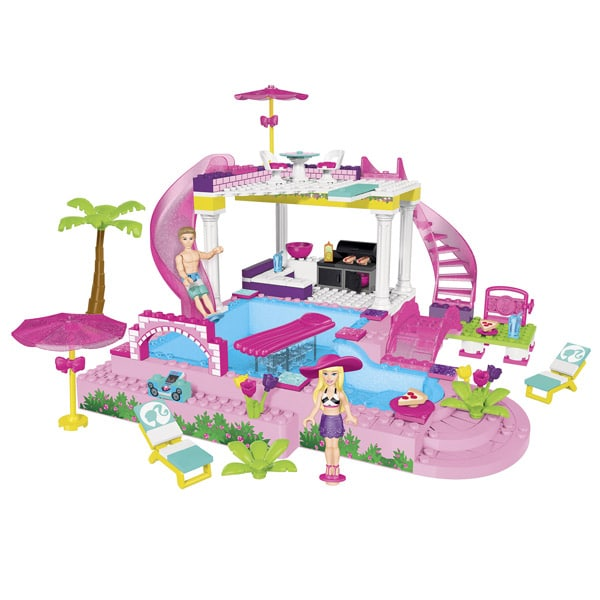 Barbie f te au bord de la piscine mega bloks king for Au bord de la piscine