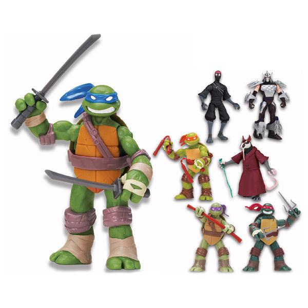 Tortues Ninja figurine articulée 12 cm + accessoires