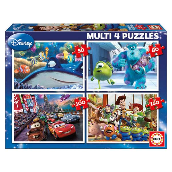 4 puzzles progressifs Disney Pixar