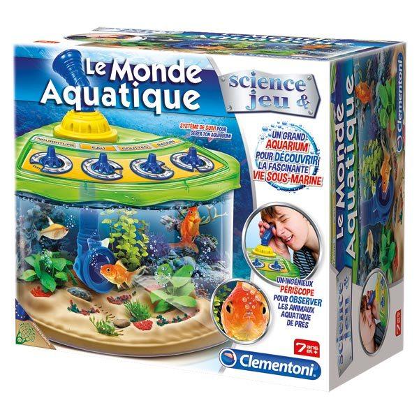 Le monde aquatique de clementoni for Jouet aquarium poisson