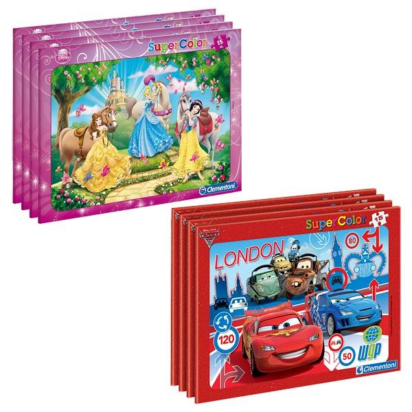 Superbe puzzle à l´effigie des héros Disney. Le puzzle dispose d´un cadre ce qui facilite la réalisation et donne des repères à l´enfant qui va prendre plaisir à voir apparaître son image au fur et à mesure. Puzzle de 15 pièces. Dimensions monté : 30,5 x