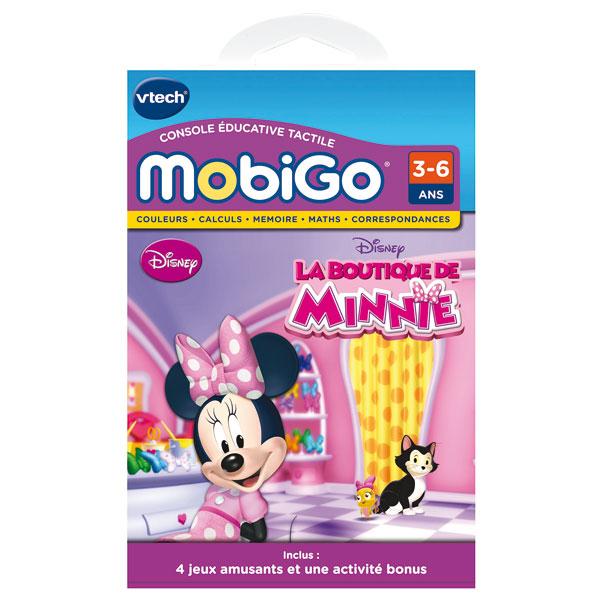 mobigo jeu la boutique de minnie vtech king jouet. Black Bedroom Furniture Sets. Home Design Ideas