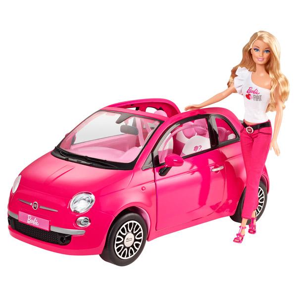barbie fiat 500 rose mattel king jouet poup es mannequin mattel poup es peluches. Black Bedroom Furniture Sets. Home Design Ideas