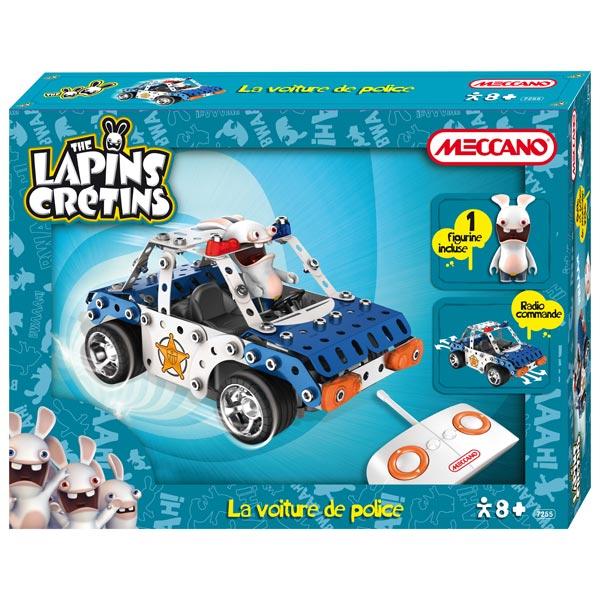 Lapin cr tin la voiture de police meccano king jouet meccano engrenage autres meccano - Jeux lapin cretain gratuit ...