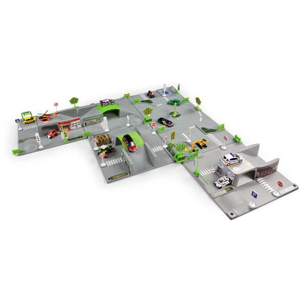 tapis 3d ville 2 plaques et 1 voiture de norev. Black Bedroom Furniture Sets. Home Design Ideas