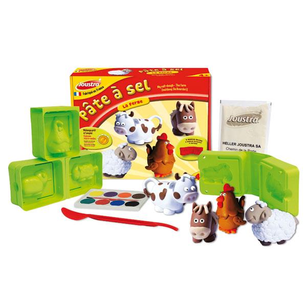 pate 224 sel animaux de la ferme joustra king jouet pate 224 modeler modelage et gravure joustra
