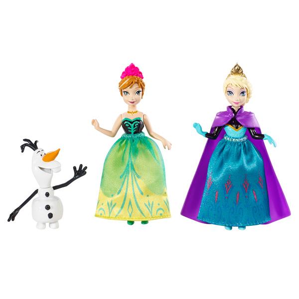figurines personnages mattel figurines la reine des neiges coffret 6
