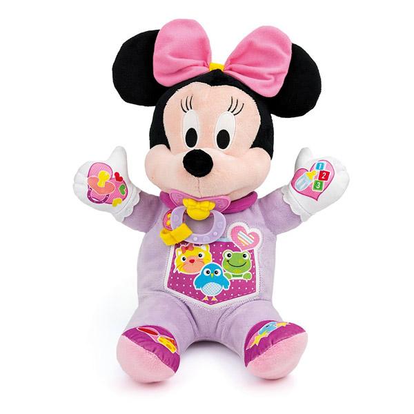 La poupée Minnie permet d´apprendre de nombreuses choses en s´amusant. - A prendre soin de Minnie grâce aux différents accessoires : une tétine pour calmer Minnie quand elle pleure (elle détecte la présence de la tétine dans la bouche), une petite assiett