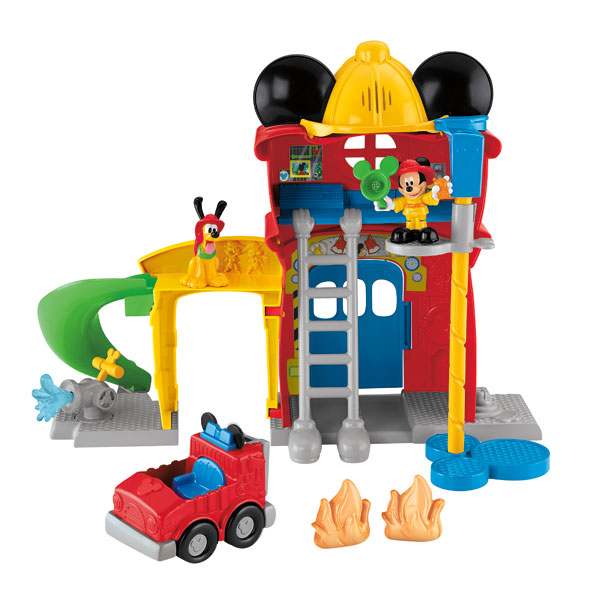 caserne de pompiers mickey fisher price friends king jouet h ros univers fisher price. Black Bedroom Furniture Sets. Home Design Ideas