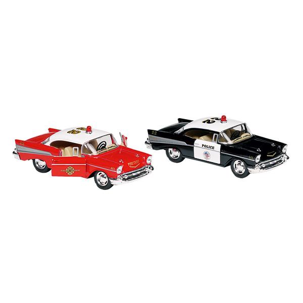 Ce modèle de Chevrolet Bel Air 1957 en métal, à l´échelle 1 :40 est un magnifique jouet pour les enfants à partir de 3 ans.Cette superbe voiture comblera vos enfants qui passeront d´excellents moments avec leurs copains. La Chevrolet Bel air 1957 métal es