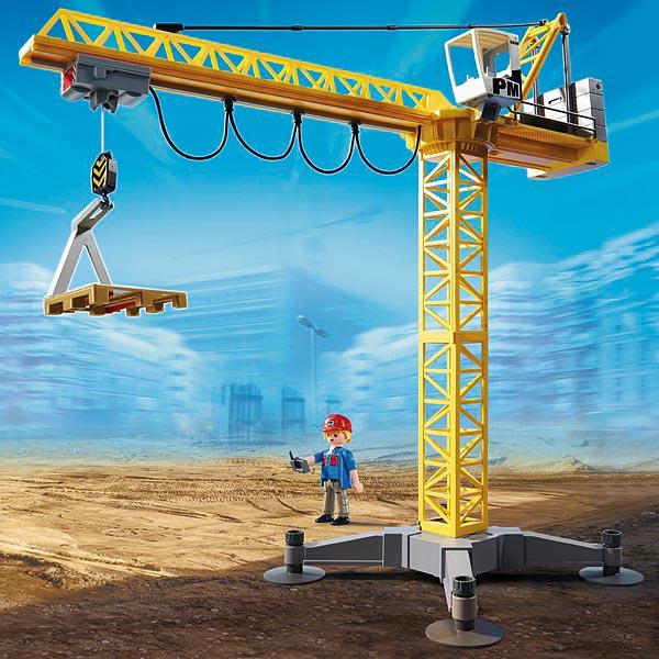 5466 la grande grue de chantier radiocommand e infrarouge playmobil king jo - Jeux grue de chantier gratuit ...