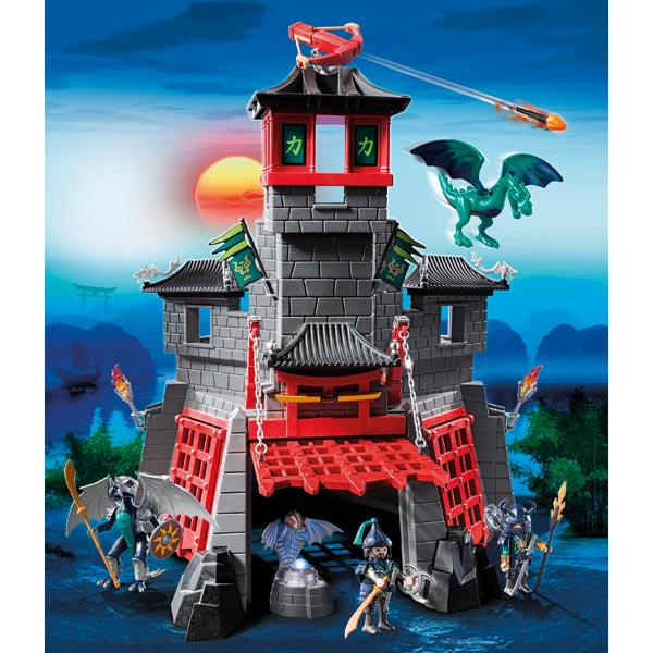 Playmobil les chevaliers dragon guerrier chevalier - Chateau chevalier playmobil ...