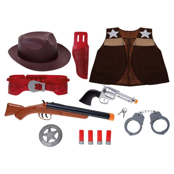 Coffret accessoires cowboy invincible heroes king jouet for Six accessoires