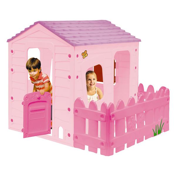 Maison country villa rose sun sport king jouet for Maison de jardin jouet