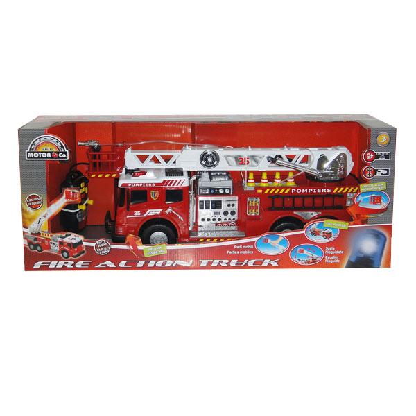 Camion De Pompiers Filoguidé Motor Co King Jouet Voitures