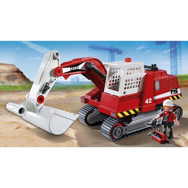 Jouet Playmobil 5282  Excavateur et Ouvrier  La Minuté Bébé