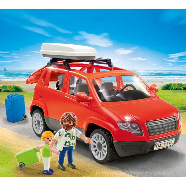5436 voiture avec coffre de toit playmobil king jouet. Black Bedroom Furniture Sets. Home Design Ideas