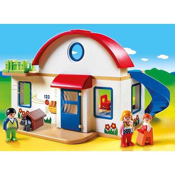 Playmobil pour enfant premier ge et b b personnages for Casa moderna de playmobil 123