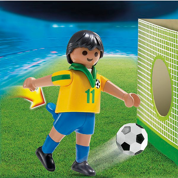 jeu jouet Jeux imitation mondes imaginaires playmobil ref  joueur de foot equipe bresil