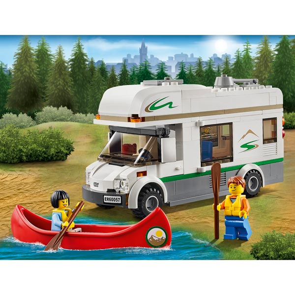 60057 le camping car et son cano lego king jouet lego. Black Bedroom Furniture Sets. Home Design Ideas