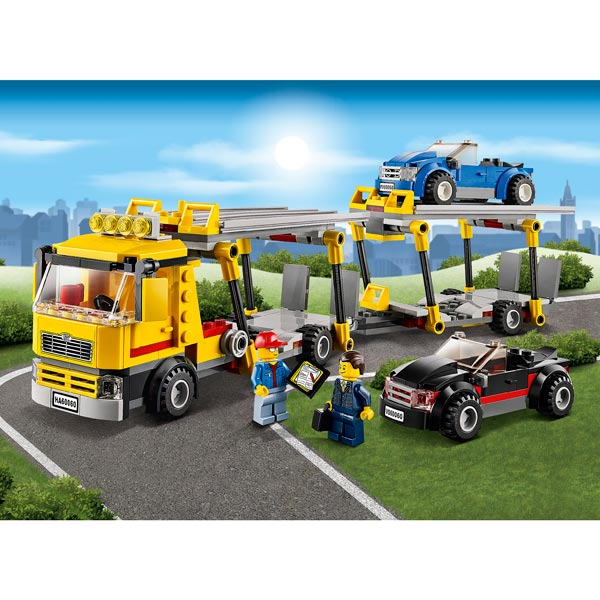 lego camion porte voiture courroie de transport. Black Bedroom Furniture Sets. Home Design Ideas