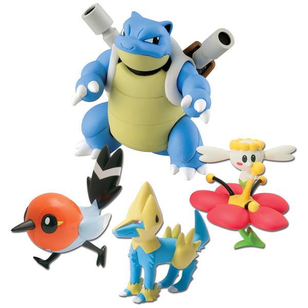 Pok 233 Mon 4 Figurines X Amp Y Tomy King Jouet Figurines Et