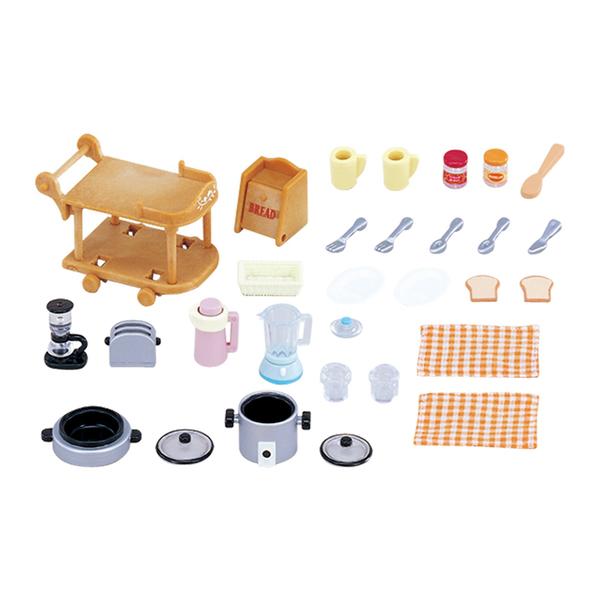 sylvanian batterie de cuisine sylvanian families king jouet figurines et cartes. Black Bedroom Furniture Sets. Home Design Ideas