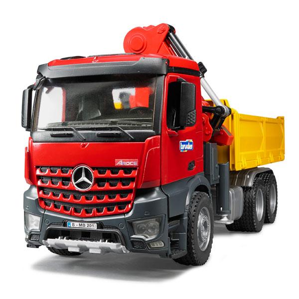 camion mercedes arocs benne avec grue et accessoires bruder king jouet v hicules de chantier. Black Bedroom Furniture Sets. Home Design Ideas