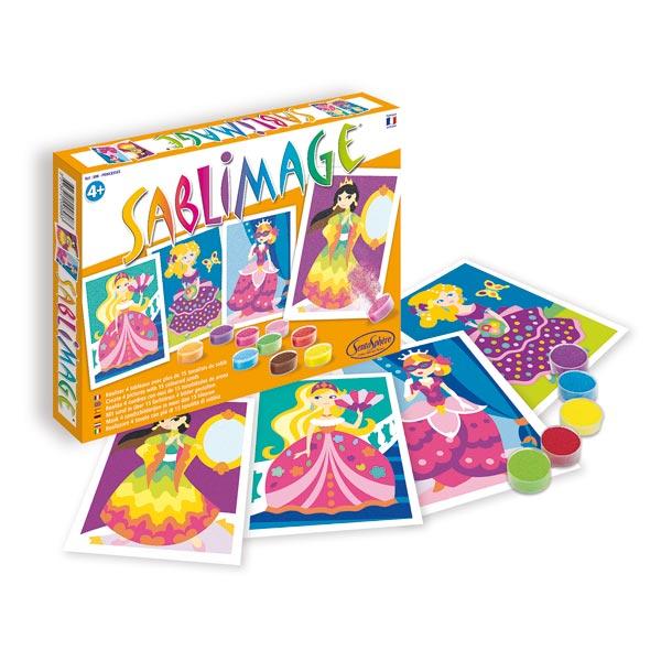 Sablimage princesses sentosphere king jouet dessin et for Peinture boiro jeu deffet paillettes
