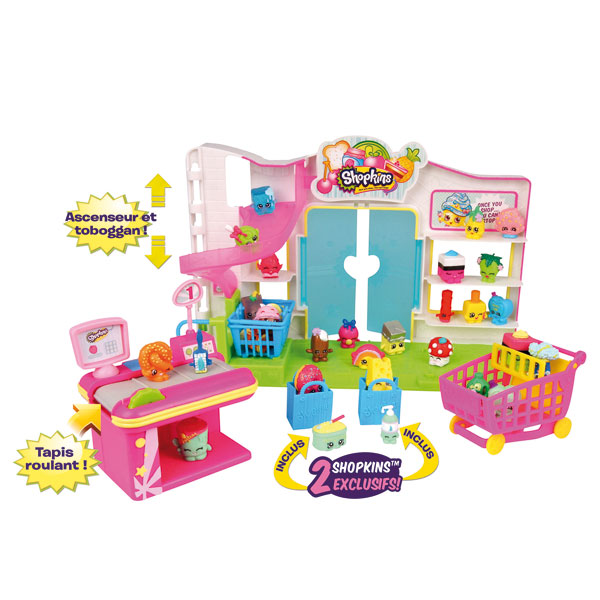 shopkins supermarch shopkins king jouet mondes imaginaires shopkins jeux d 39 imitation. Black Bedroom Furniture Sets. Home Design Ideas