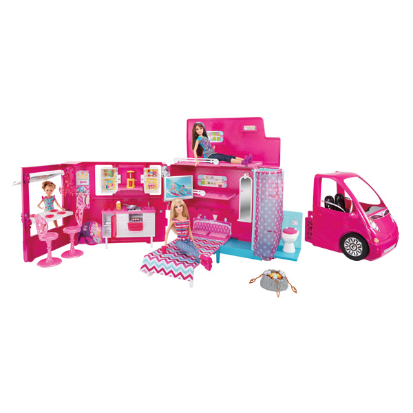 camping car barbie de mattel. Black Bedroom Furniture Sets. Home Design Ideas
