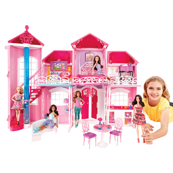 nouvelle maison de barbie mattel king jouet accessoires de poup es mattel poup es peluches. Black Bedroom Furniture Sets. Home Design Ideas