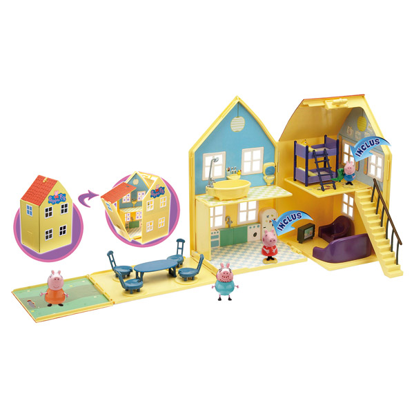peppa pig maison de luxe avec 2 personnages giochi king. Black Bedroom Furniture Sets. Home Design Ideas
