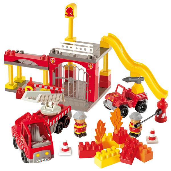 caserne pompiers abrick abrick king jouet 1er age abrick jeux de construction. Black Bedroom Furniture Sets. Home Design Ideas