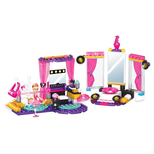 Barbie mannequin de mega bloks for Barbie chien piscine