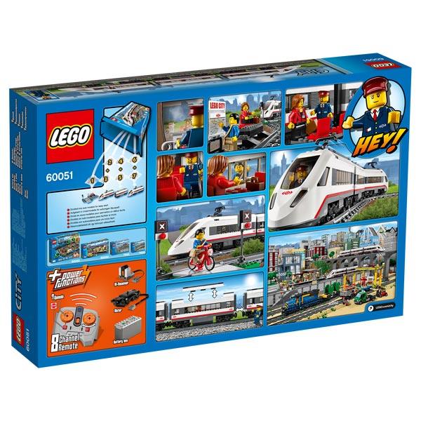 lego city 60051 le train de passagers grande vitesse lego king jouet lego planchettes. Black Bedroom Furniture Sets. Home Design Ideas