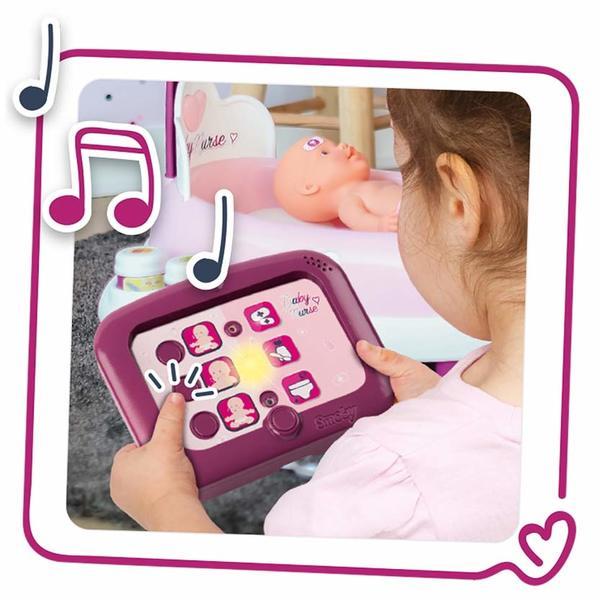 Nursery Electronique Baby Nurse + Poupon + 24 Accessoires Inclus