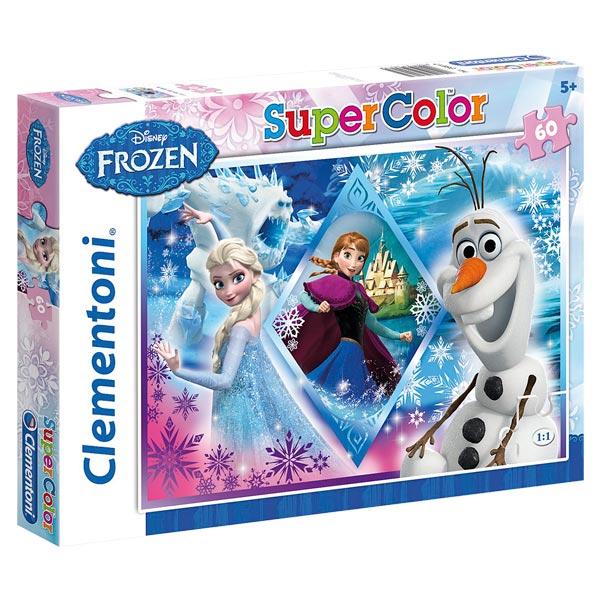 Retrouvez les héros de la Reine des Neiges avec ce superbe puzzle ou figure, Anna, Elsa et Olaf. Dimensions monté : 33,5 x 23,5 cm. Puzzle carton 60 pièces.