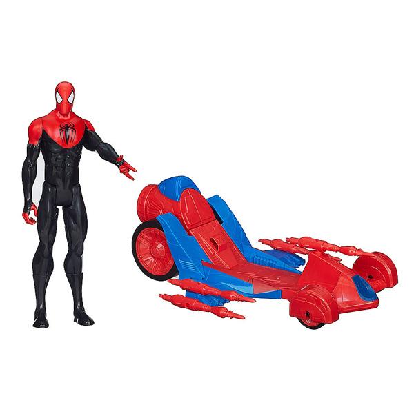 Spiderman figurine 30 cm voiture de hasbro - Voiture spiderman ...