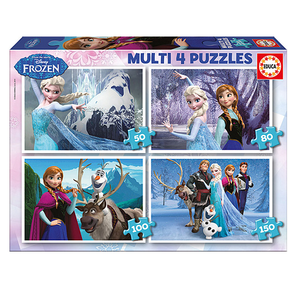 4 puzzles progressifs Reine des Neiges