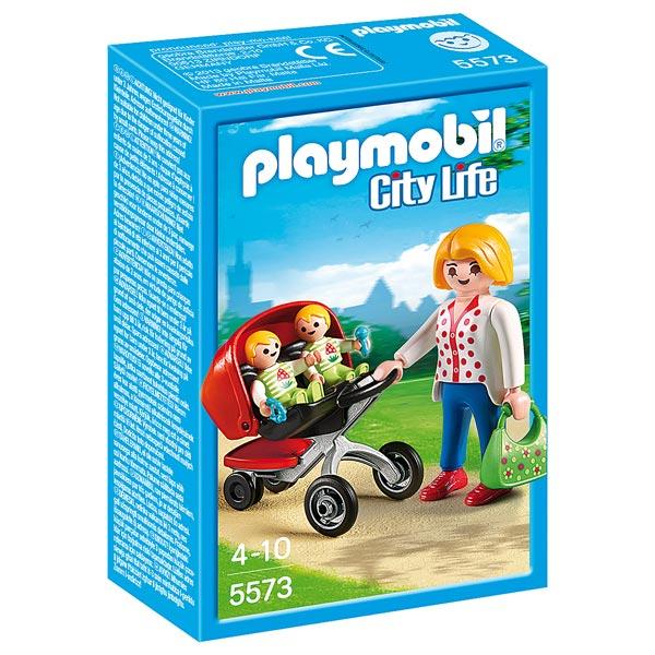 5573 maman avec jumeaux et landau playmobil city life. Black Bedroom Furniture Sets. Home Design Ideas