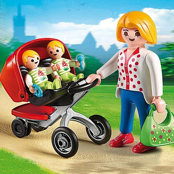 5573-Maman avec jumeaux et landau - Playmobil City Life
