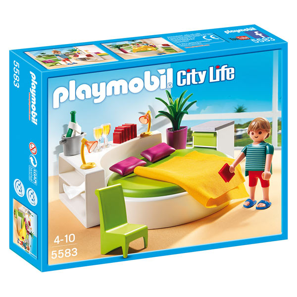 5583 chambre avec lit rond playmobil king jouet for Salle a manger playmobil city life