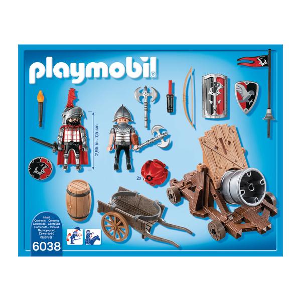 6038-Chevaliers de l`Aigle avec canon géant - Playmobil Knights